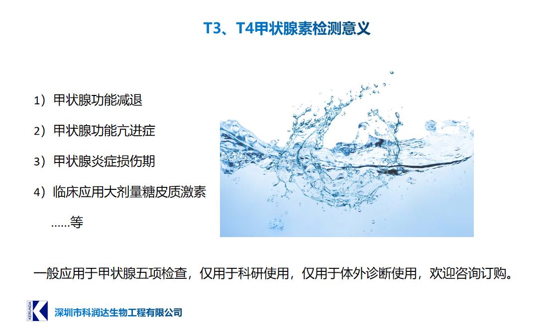 T3T4甲状腺素检测意义